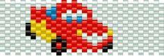 lightning mcqueen bead pattern