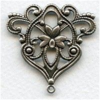 stampings plated silver (7) - VintageJewelrySupplies.com