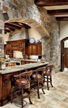 Tuscan kitchen design instantly conjures pictures of Italy and sun and warmth. ) In reality such pictures are only what that you want to consider if coming up with the best Tuscan kitchen layout ) Tuscany a region in north… Continue Reading → Tuscan Kitchen Design, Kitchen Designs, Tuscan Design, Tuscan Decorating, Log Homes, Barn Homes, Cheap Home Decor, Home Kitchens, Country Kitchens