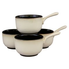 Nova Set of 4 Soup Bowls - Black