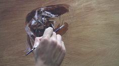 """Process- the painting of """"Plastic"""" by Robin Eley. A video of the process involved in painting """"Plastic""""."""