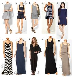 My fav everyday summer dresses for pregnancy and post-partum (some are good for nursing, too).