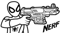 Nerf Coloring Pages
