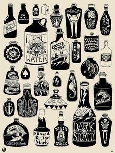 old school bottles