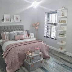 Lauren & Alex - OurSelfBuildNI (our_self_build_ni) on Somegram Teen Bedroom Designs, Bedroom Decor For Teen Girls, Cute Bedroom Ideas, Room Ideas Bedroom, Teen Room Decor, Small Room Bedroom, Home Decor Bedroom, Scandi Bedroom, Gray Bedroom Furniture
