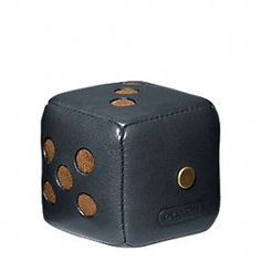 Gifts 50-100: Coach Bleecker Leather Dice Paperweight