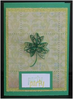 Celebrate St. Patrick's Day with a Quilled Invitation