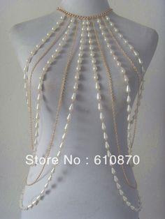 Body Chains Jewelry for Women Body Chain Jewelry, Pearl Jewelry, Jewelery, Chain Necklaces, Gucci Jewelry, Jewellery Bracelets, Body Jewellery, Gold Necklaces, Charm Bracelets