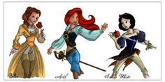 Punk Disney Princesses | TAK.riv: Steam Punk Princesses