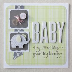 Handmade New Baby Card!  https://www.facebook.com/LittleSomethingsCraftingCo
