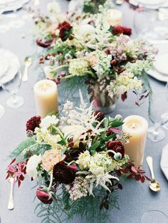love the texture in these centerpieces
