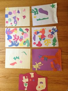 Matisse-Style Art for Kids {Simple Little Home}  @Nola Gordon had you already found something for matisse?