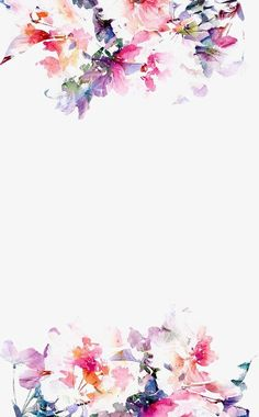 hand painted,color,beautiful,hand,painted,watercolor clipart,flowers clipart,border clipart
