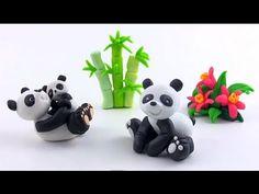 ▶ LET'S CLAY! Panda z modeliny - polymer clay tutorial - YouTube
