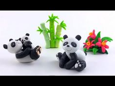 LETS CLAY! PANDA - tutorial polymer clay - YouTube