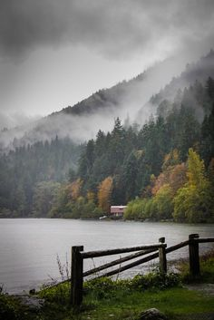 """intothegreatunknown: """" Atmospheric conditions at Lake Crescent in Olympic National Park 