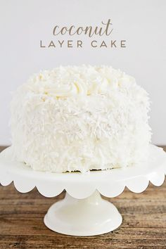 This elegant and delicious coconut layer cake is simple to make and always a…