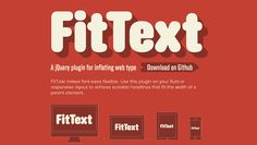 FitText - plugin for responsive design