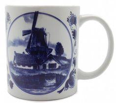 Dutch Gift Delft Windmill Coffee Mug