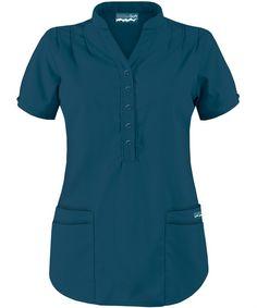 Butter-Soft Scrubs by UA Mandarin Collar Top, Style # Scrubs Outfit, Scrubs Uniform, Dental Scrubs, Medical Scrubs, Scrub Shoes, Stylish Scrubs, Teacher Wear, Uniform Design, Professional Outfits