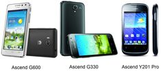 Huawei has announced three new smartphones in its Ascend series as well as a brand new user interface 'Emotion' for its Android phones at the IFA trade fair. The new smartphones include Ascend G600, Ascend G330 and Ascend Y201 Pro.