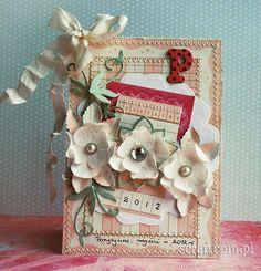 kompozycja kwiatków Latarnia Morska Scrapbooking, Gifts, Presents, Favors, Scrapbooks, Memory Books, Scrapbook, Gift, Notebooks