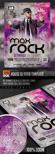House Dj Flyer Template PSD. Download here: http://graphicriver.net/item/house-dj-flyer-template/14857627?ref=ksioks