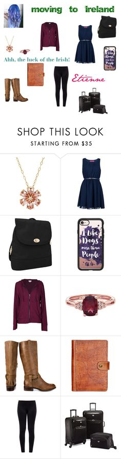"""""""Etienne in Ireland"""" by katrina-leslie ❤ liked on Polyvore featuring Lord & Taylor, Boohoo, Travelon, Casetify, Velvet by Graham & Spencer, Jessica Simpson, Patricia Nash, Norma Kamali and American Tourister"""