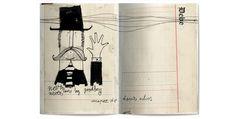 Quadern d'artista que recull una selecció de diferents quaderns l'il · lustrador Julio Antonio Blasco, Sr López.  www.simientese...