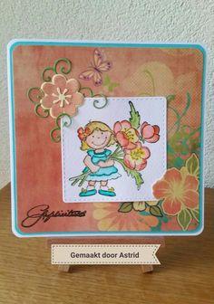 crea-scrap-card: Oranje kaart