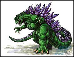 Godzilla 2000 marker sketch by AlmightyRayzilla
