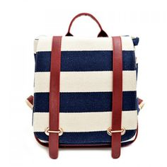 Wholesale Casual Stripe and Covered Closure Design Women's Satchel Only $9.11 Drop Shipping | TrendsGal.com