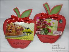 apple teacher gift card - would be cute for applebees gift card or apple ipad gift card