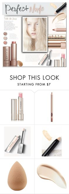 """""""Perfect Nude"""" by fassionista ❤ liked on Polyvore featuring beauty, By Terry, Charlotte Tilbury, Burberry, NYX, Terre Mère, beautyblender, Beauty, LIPSTICK and nudelip"""