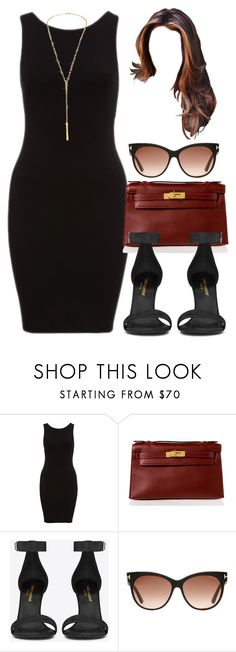 """Style #10686"" by vany-alvarado ❤ liked on Polyvore featuring Hermès, Yves Saint Laurent, Tom Ford and Jennifer Zeuner"