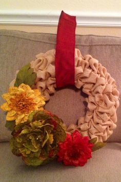 Wreath for my friend Theresa.
