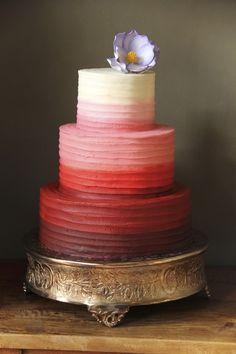 #Ombre Ruffled #WeddingCake I Buzz Bakery I See more @WeddingWire