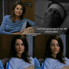 [14x01] MEREDITH: I had one great love in my life and he died.