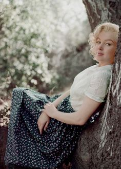 A blissful afternoon, perfect for dreaming. Marilyn Monroe photographed by Milton Green, 1953