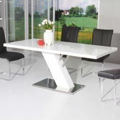 Modern white kitchen table white kitchen table and chairs set bow Cheap Dining Tables, White Dining Room Table, Marble Top Dining Table, Dining Table Online, Wooden Dining Tables, Dining Table In Kitchen, Kitchen Decor, Rustic Living Room Furniture, Dining Furniture