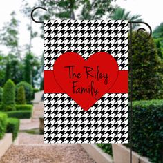 Valentines Day Flag | Valentine Heart Flag | Valentine Yard Art | Heart Garden Flag | Custom Flag | Garden Flag | Garden Decor | Yard Sign  #GardenFlag #GardenFlags #MonogramGardenFlag #YardFlag #PersonalizedFlag #GardenSign #MonogrammedFlag #WelcomeFlag #GardenDecor #OutdoorFlag