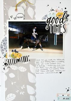 """Felicity Jane-Tuesday Printables """"Good Times"""" A4 scrapbook layout"""