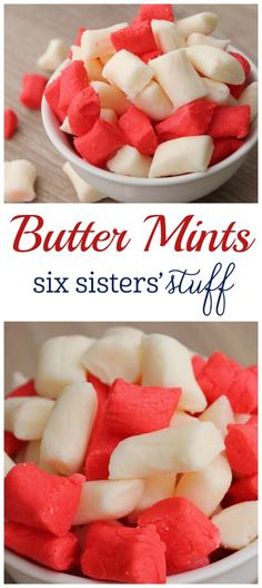 Butter Mints recipe from @sixsistersstuff | This is seriously the easiest candy you'll ever make!  A creamy smooth peppermint with a rich buttery taste.  The perfect little dessert for your holiday parties when you don't want to spend a lot of time in the kitchen.