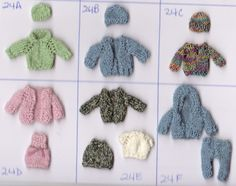 Knitted 1/2 scale clothing