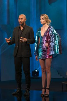 Edmond Newton and his look from this week's episode of Project Runway.