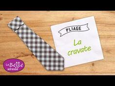 Pliage de serviette en papier en forme de cravate - LaBelleAdresse - YouTube