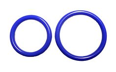 Penisring Hodenring 2er-Pack, blau oder schwarz, se002 (rot)