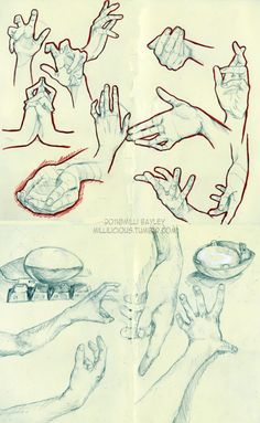 Hands study by ~millibayley on deviantART ✤ || CHARACTER DESIGN REFERENCES | Find more at https://www.facebook.com/CharacterDesignReferences if you're looking for: #line #art #character #design #model #sheet #illustration #expressions #best #concept #animation #drawing #archive #library #reference #anatomy #traditional #draw #development #artist #pose #settei #gestures #how #to #tutorial #conceptart #modelsheet #cartoon #hand