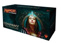 Magic The Gathering Conspiracy 2 Take The Crown Booster Box. You Stab My Back and I'll Stab Yours  Clearly the crown is up for grabs. Will you claim it?  No more jokes. No more intrigue. For real this time.  The throne no longer sits empty, but deception, danger, and even death await around every corner.  Add deeper layers of intrigue to your next Magic draft and begin plotting as soon as you open your first booster pack! The Conspiracy: Take the Crown set builds on the revolutionary…