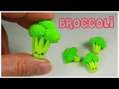 Kawaii Broccoli Polymer Clay Tutorial by This Charming Stuff